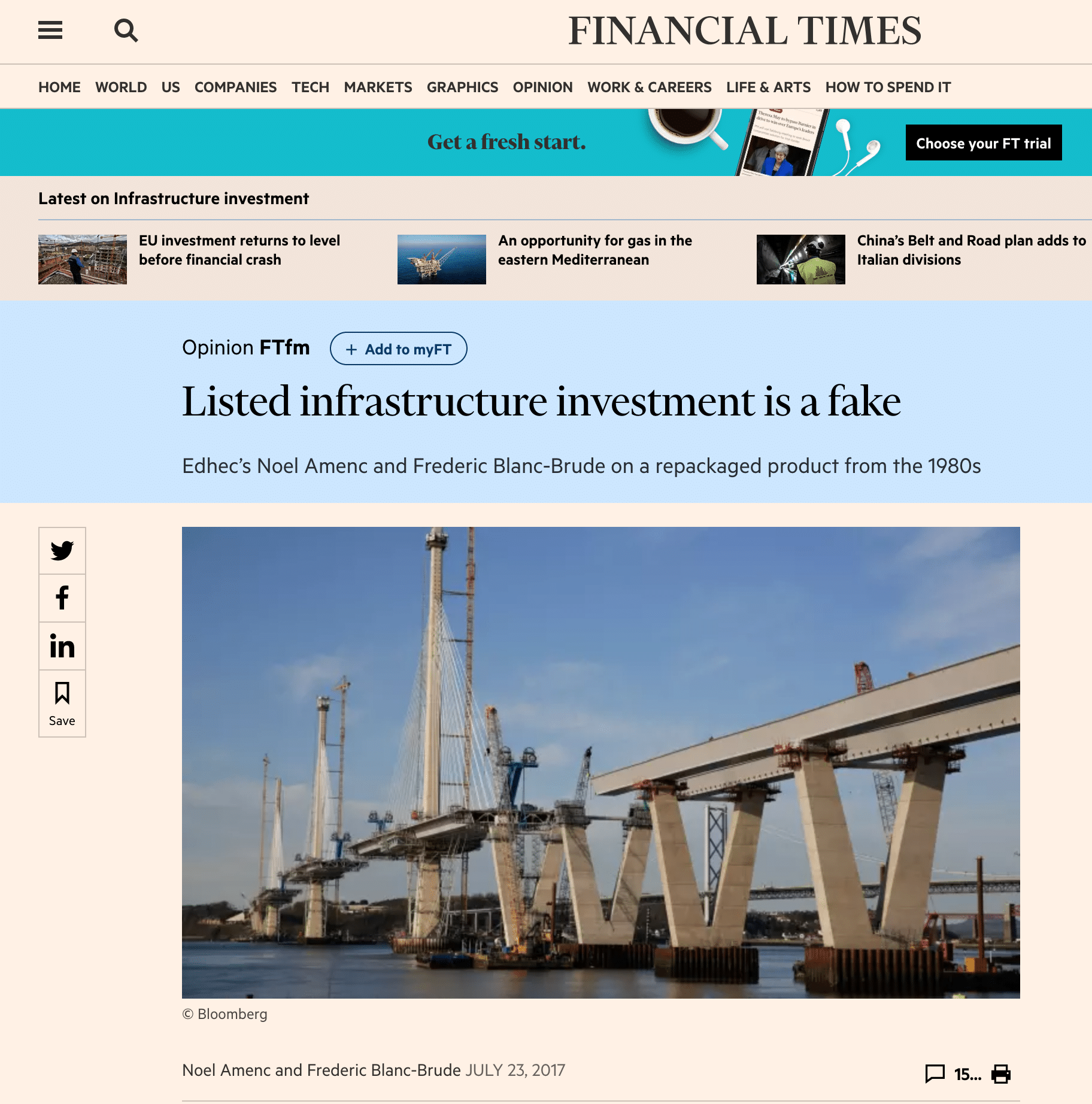 Listed infrastructure investment is a great story but it's fake