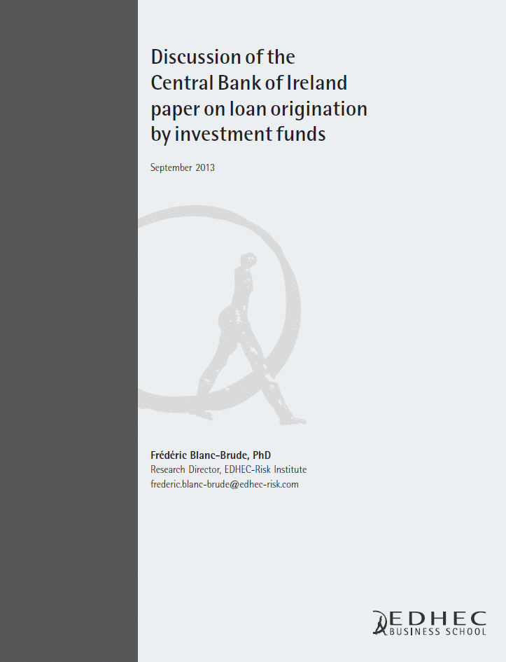 Discussion of the Bank of Ireland Paper on loan origination by investment funds
