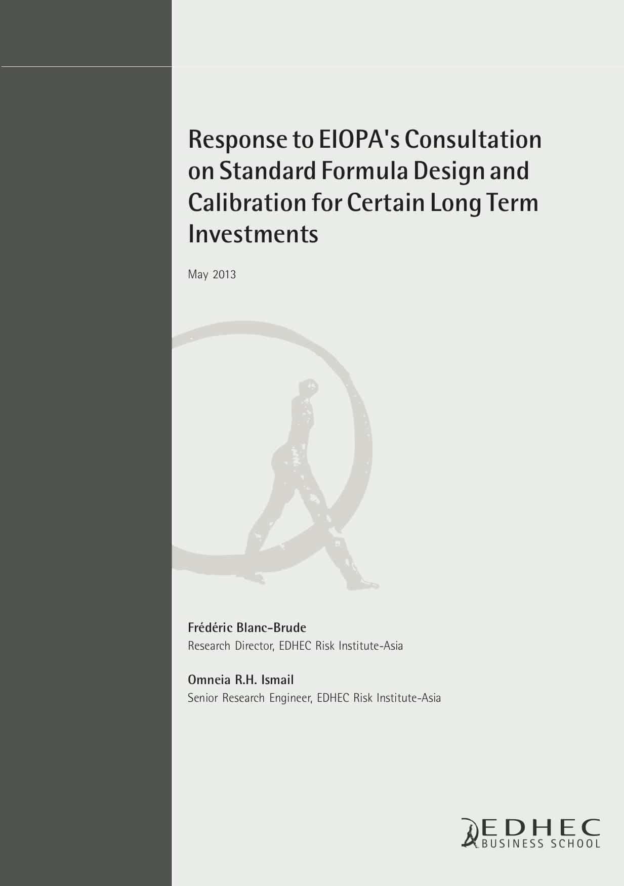 Response to EIOPA's Consultation on Standard Formula Design and Calibration for Certain Long Term Investments
