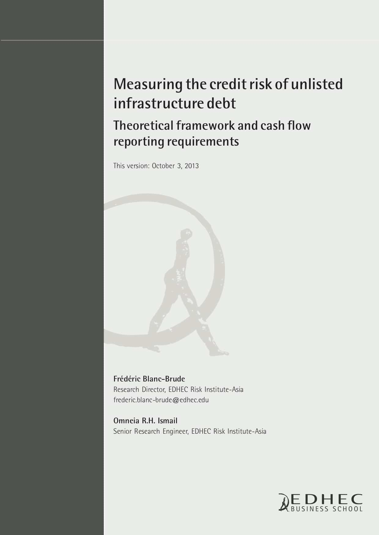 Measuring infrastructure the credit risk of unlisted infrastructure debt