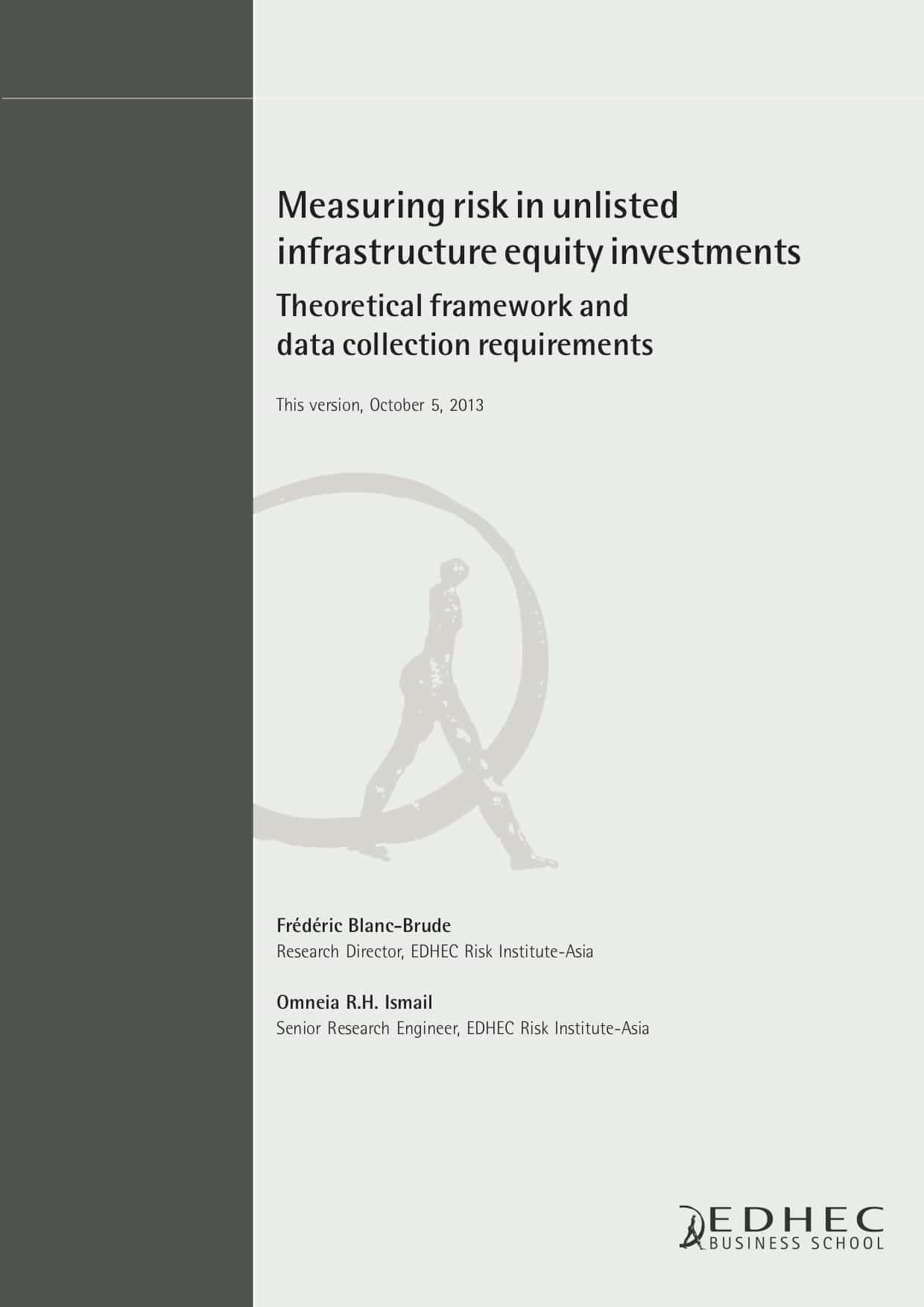 Measuring risk in unlisted infrastructure equity investment