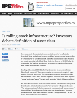 IP&E Real Assets: Is rolling stock infrastructure?