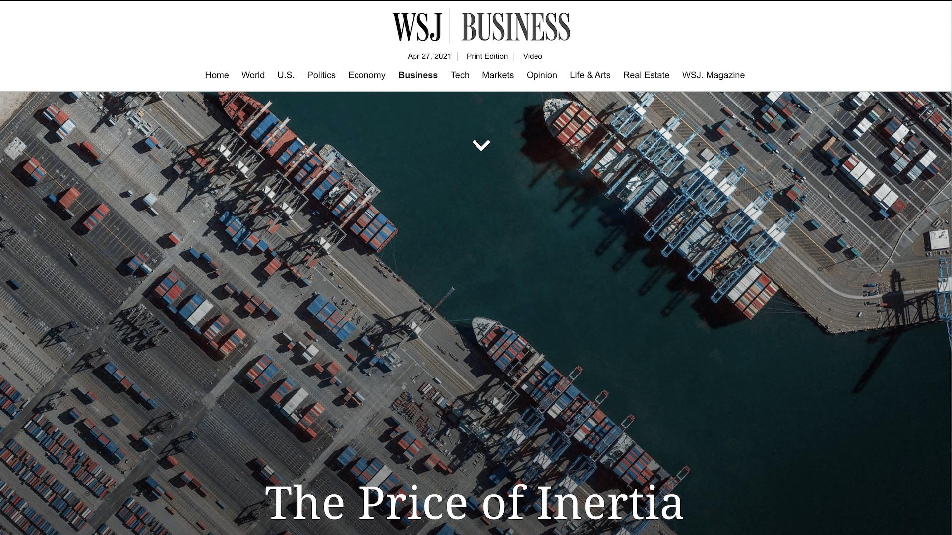 Wall Street Journal: The Price of Inertia